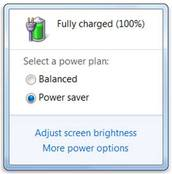 Battery fully charged windows