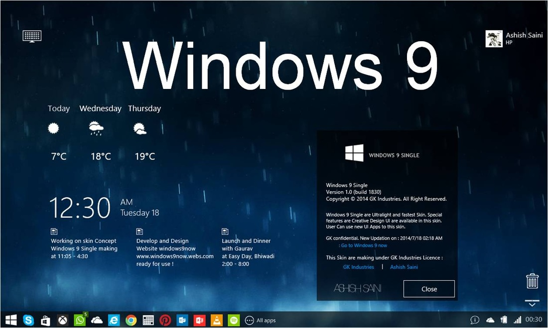 Windows 9 theme
